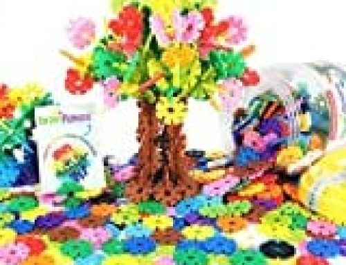 Brain Flakes 500 Piece Interlocking Plastic Disc Set – A Creative and Educational Alternative to Building Blocks – Tested for Children's Safety – A Great Stem Toy for Both Boys and Girls