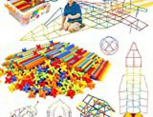 Straw Constructor Toys STEM Building Toys 600Pcs Straw Toy Interlocking Plastic Toys Engineering Toys Thin Tube Blocks Toy Educational Toy Kit for Indoor&Outdoor Kids Toy for Boys and Girls Gift